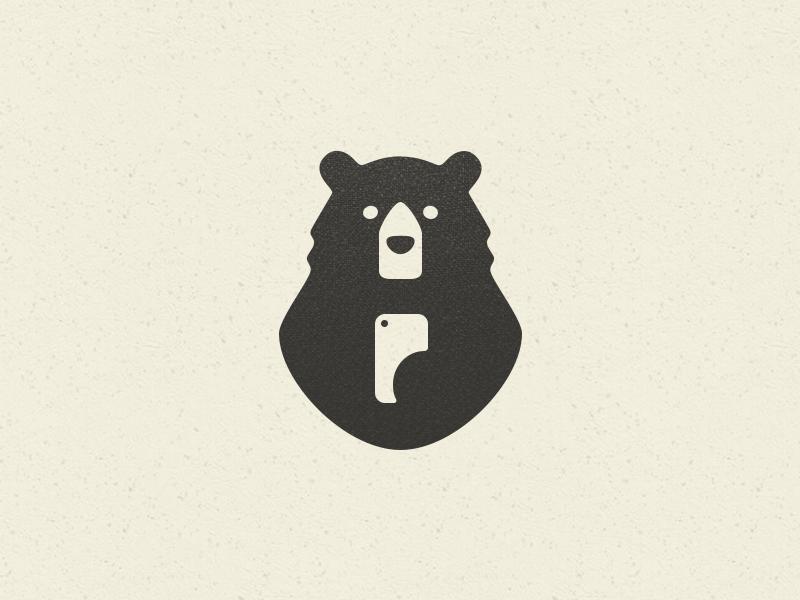 медведь картинка минимализм список