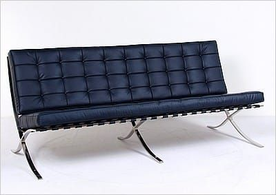 Fabulous Mies Style Exhibition Sofa Navy Blue Leather In 2019 Unemploymentrelief Wooden Chair Designs For Living Room Unemploymentrelieforg