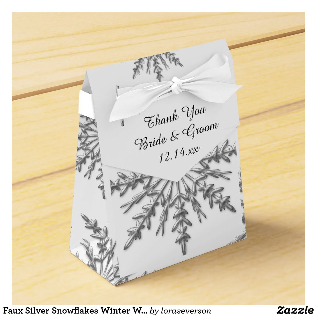 Faux Silver Snowflakes Winter Wedding Favor Box | Wedding Favors ...