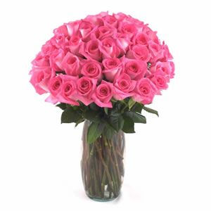 Pink Roses Flower Bouquets - 36 Pink Roses in a Bouquet