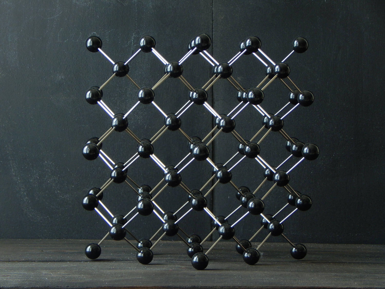 Crystal Model   Diamond   handmade wood science atom