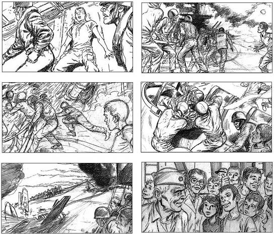 High Quality Comicbook Art, Storyboards For TV And Film, As Well As Western Art .