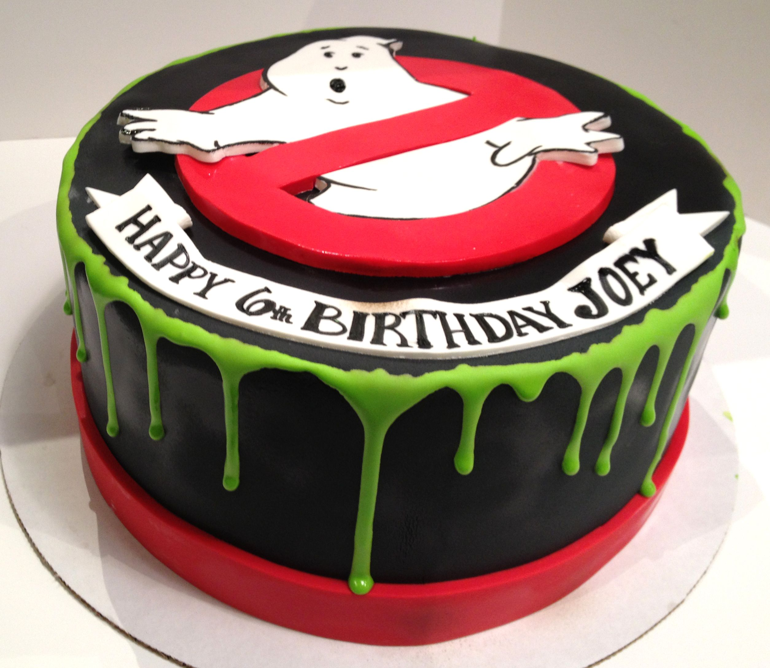 Stupendous Ghost Busters Birthday Cake With Images Ghostbusters Funny Birthday Cards Online Alyptdamsfinfo
