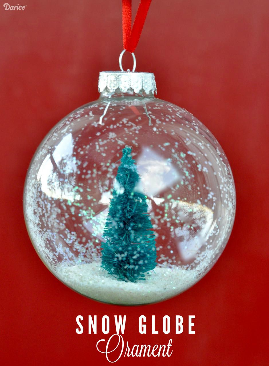 Snow Globe Ornaments DIY Tutorial