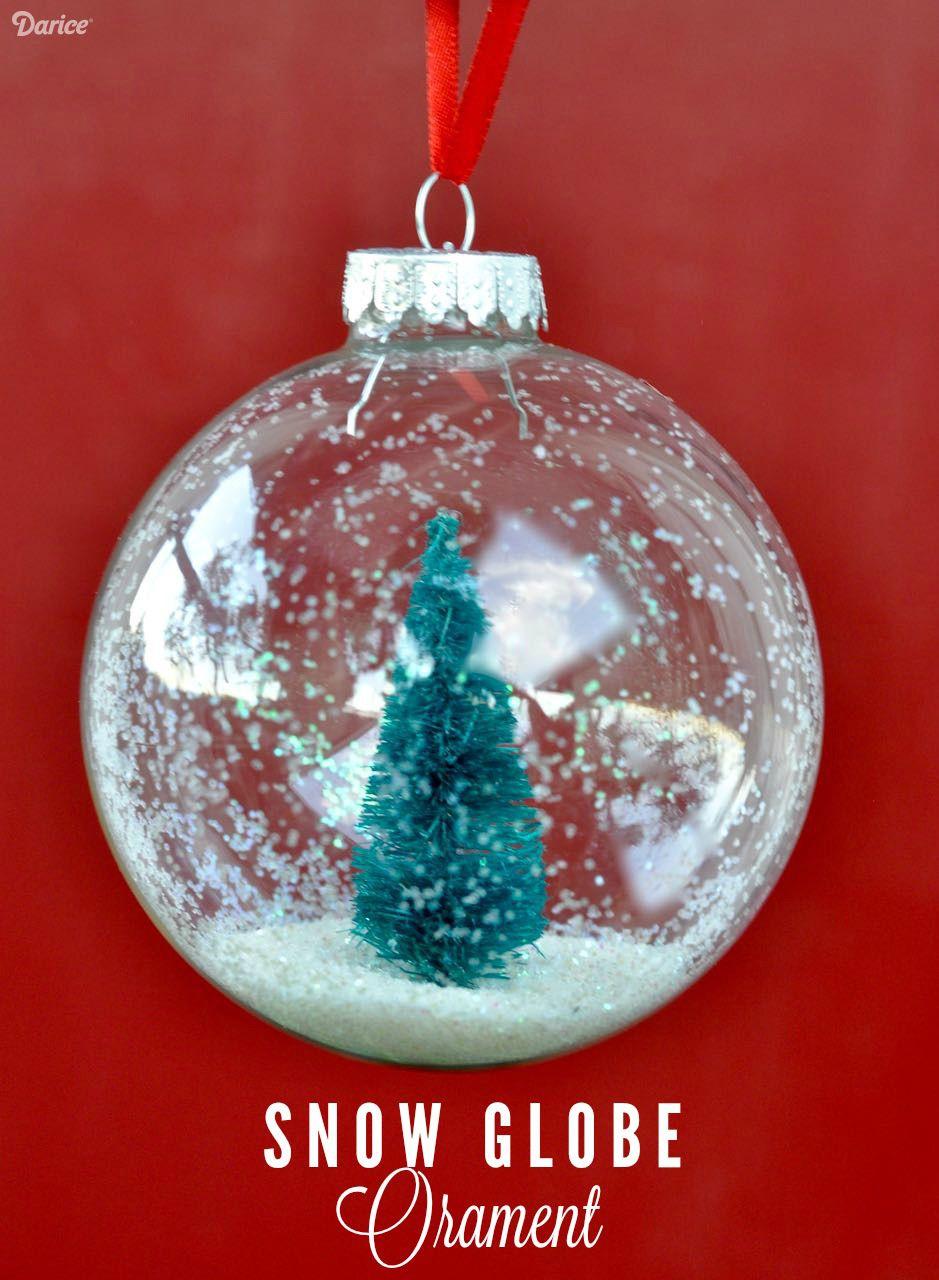 Snow Globe Ornaments DIY Tutorial Diy christmas