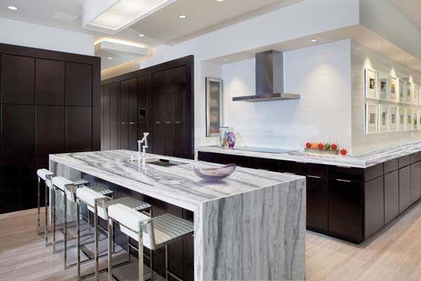 Modern Countertops super classic venato marble kitchen countertops > modern kitchen