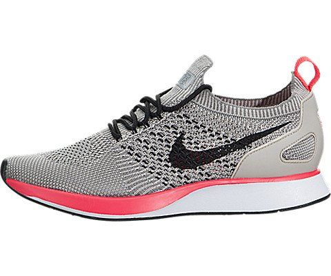 NIKE Women Air Zoom Mariah Flyknit Racer String Black-White-Solar Red Size  7.0