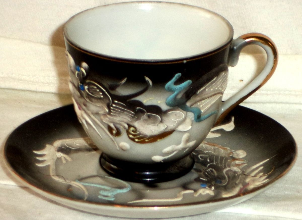 Dragon Made In Occupied Japan Cup Saucer - Year of Clean Water