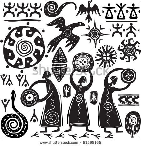 African Art Symbols Clipart Library
