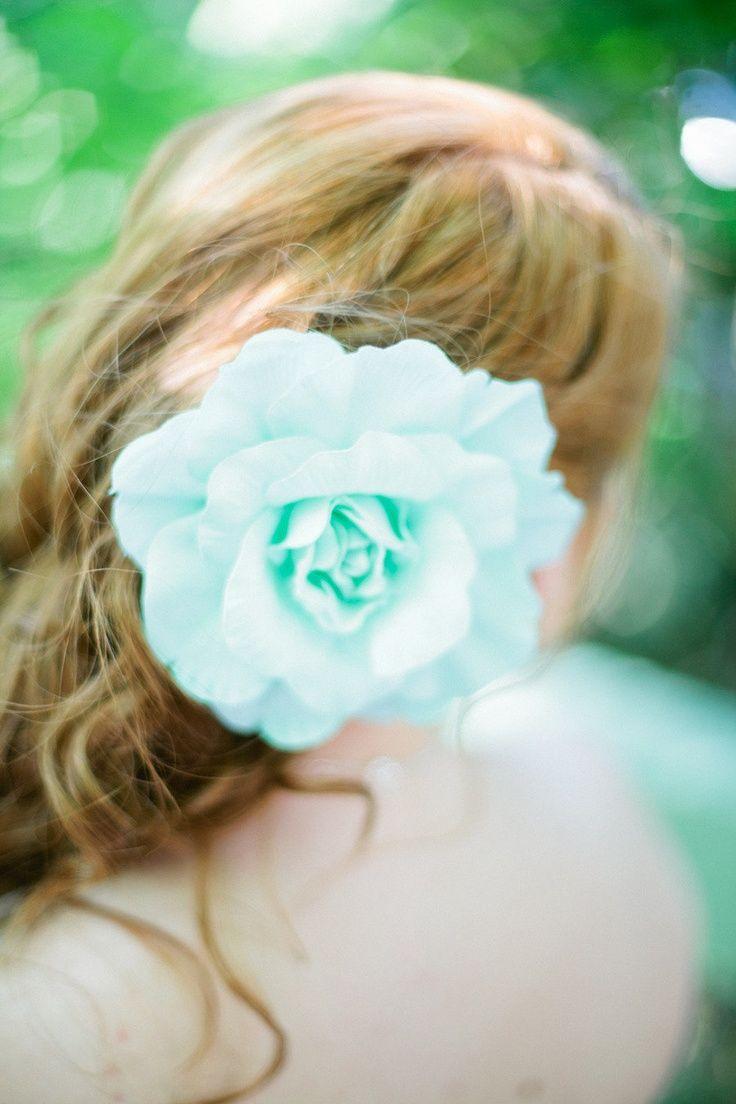 Aqua blue hair flower aqua wedding colors pinterest aqua blue aqua blue hair flower izmirmasajfo