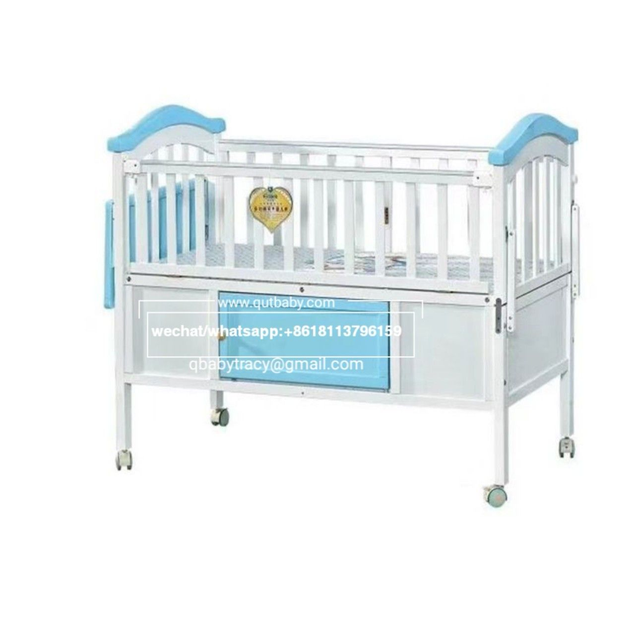 Baby Cot Crib Baby Crib Pine Wood Baby Bed Cambodia Hot Sale