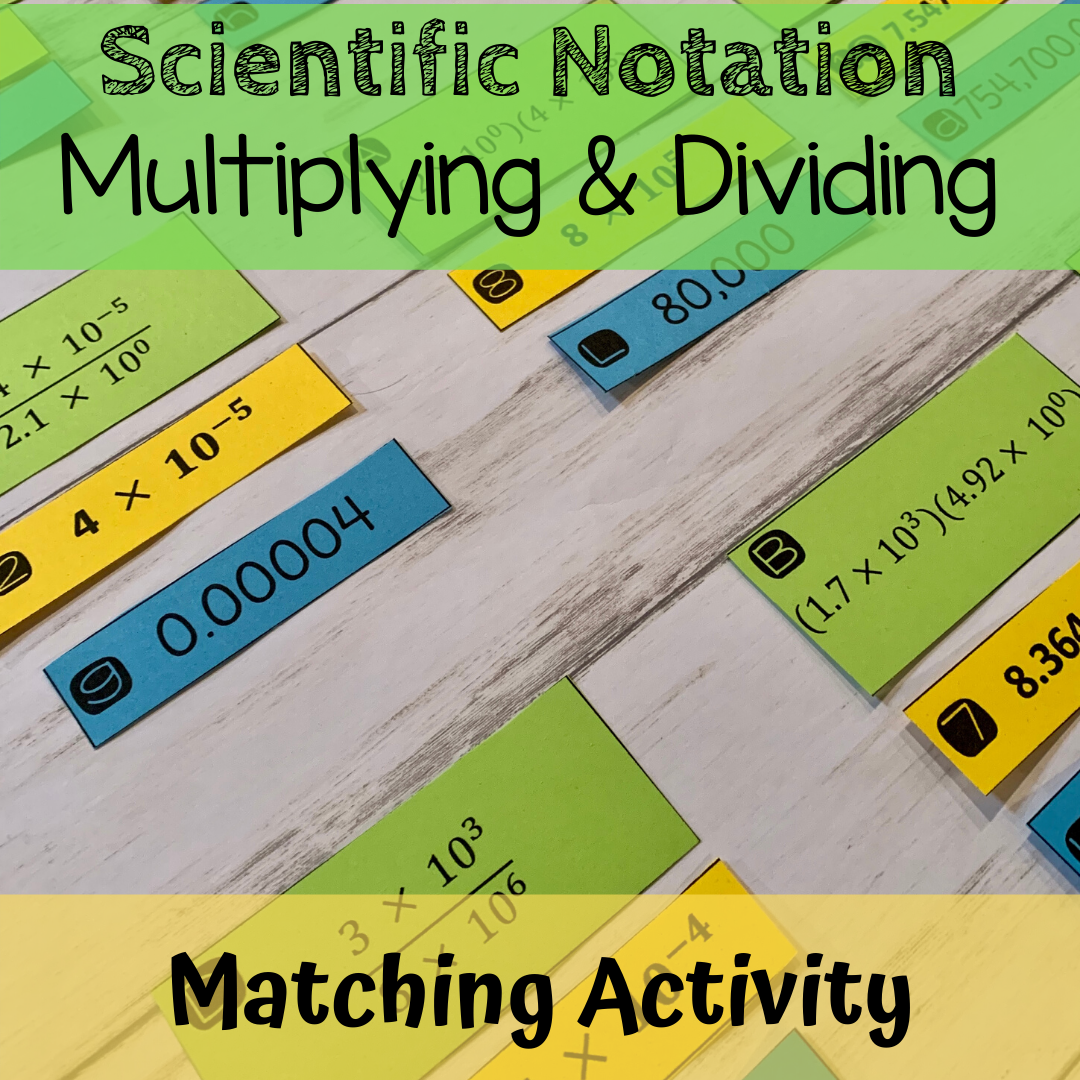 Multiplying Dividing Scientific Notation Matching Activity Scientific Notation Notations Maths Activities Middle School [ 1080 x 1080 Pixel ]