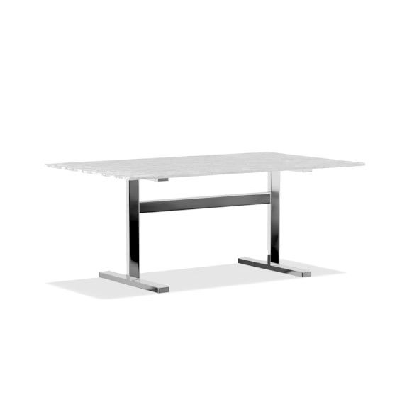 Mercer Dining Table With Carrara Marble Top Williams Sonoma Dining Table Marble Rectangular Dining Table Round Dining Table