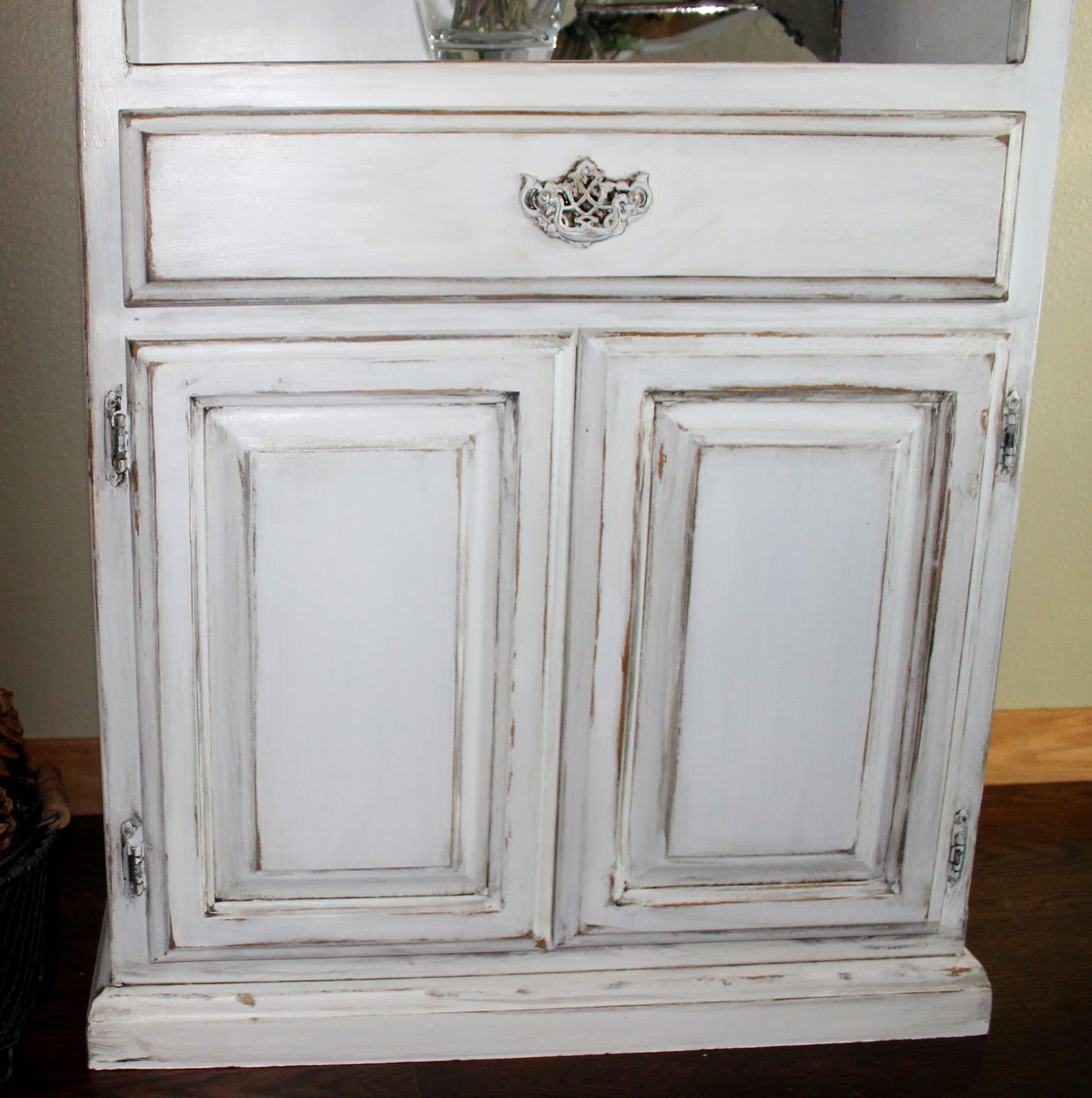 DIY Tutorial On Antiquing Wood Furniture.