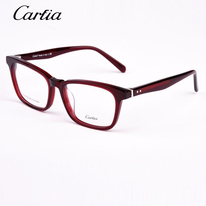 6b779fe536e CA5233 Hand Made Acetate Frame Carfia brand designer glasses frame for men  and women oculos de