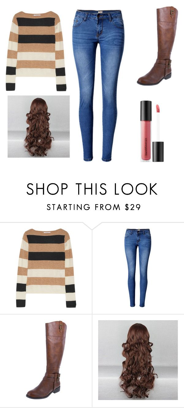 """""""In honor of Kylie"""" by fashionfreakyforreal ❤ liked on Polyvore featuring MaxMara, WithChic and Bare Escentuals"""
