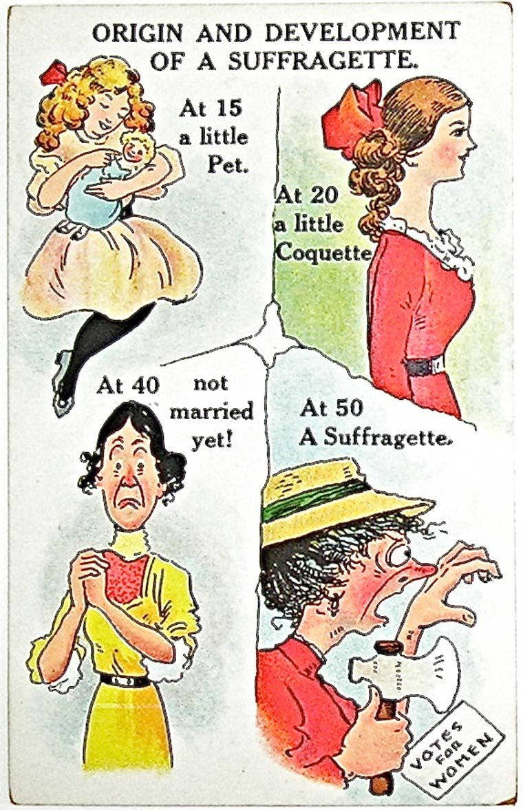 postcard illustrations of the years from the postcard illustrations of the years 1900 1914 from the propaganda used against the women s