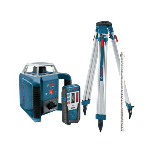 Bosch Grl400hck Exterior Self Leveling Rotary Laser Complete Kit With Receiver Tri Pod Grade Rod And Hard Case Rotary Red Beam Electronic Recycling
