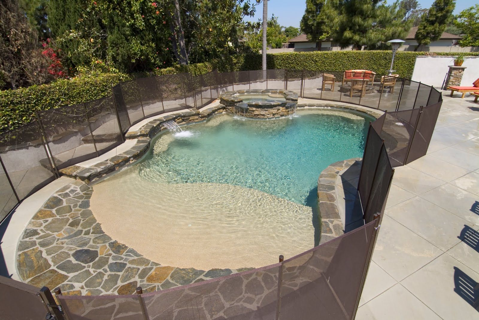 Any Opinions On A Vanishing Edge Pool Maintenance Fence Fort Myers Cape Coral Area Florid Beach Entry Pool Custom Swimming Pool Swimming Pool Designs