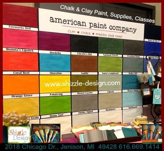a Shizzle Design amerikanske Paint Company gigant farvekort kridt ler maling forsyninger 2