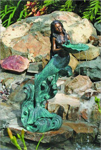"""Mystical Mermaid Fountain"" (Bronze Finish, Cast In Brass"