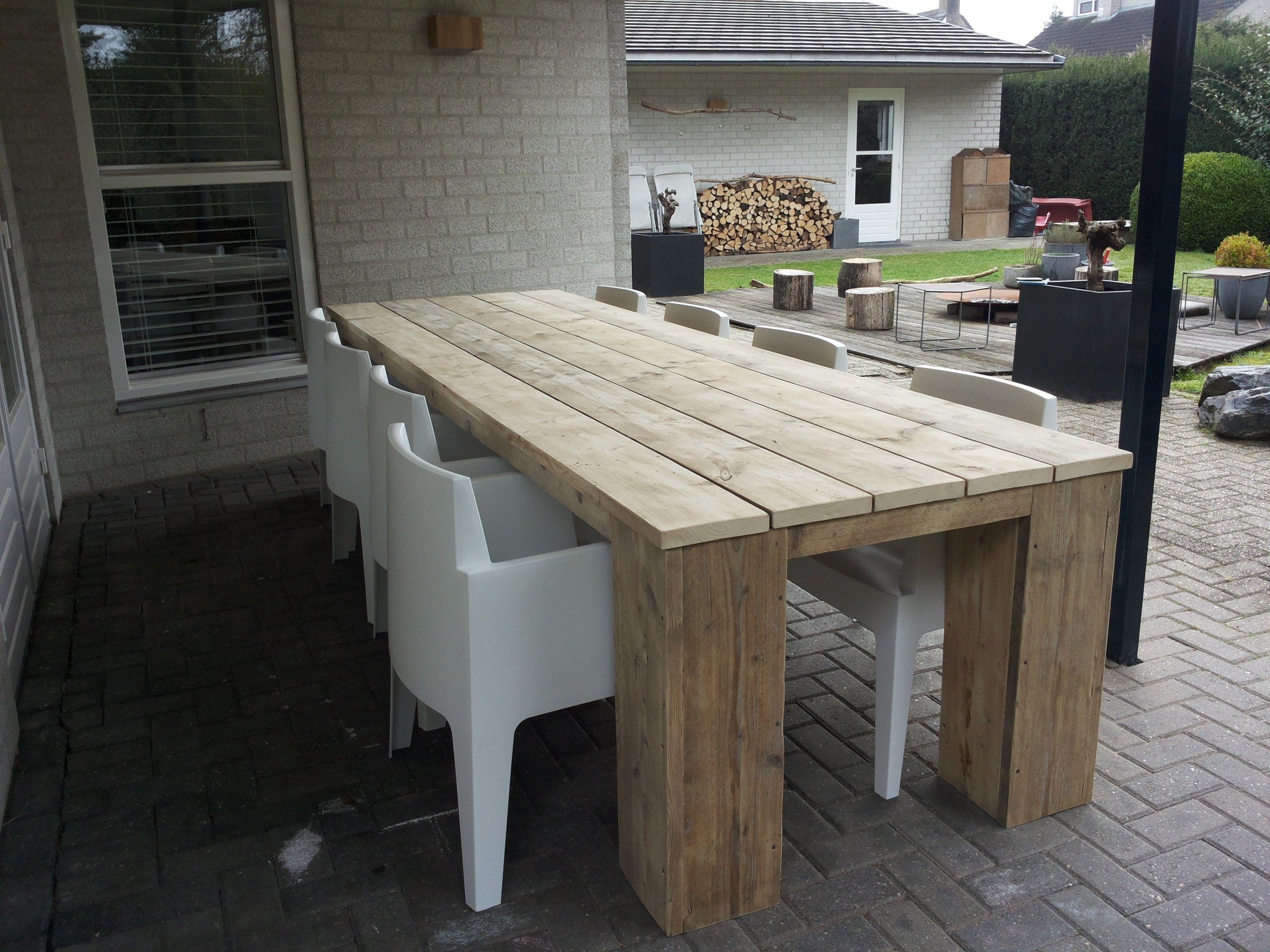 Tafels en tuintafels steigerhout alle maten en modellen