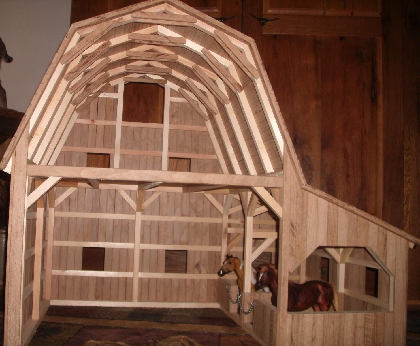 Creations Crafted Toy Barn3 Wooden By Wild Cat Hollow Hand ARLq354j