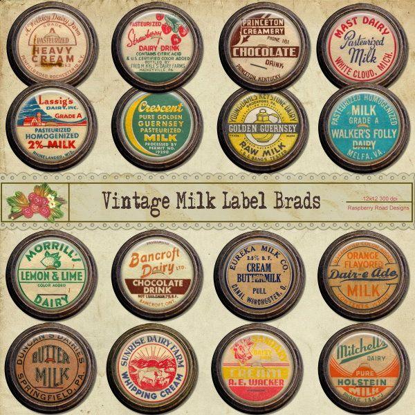 Collection Of Old Milk Labels Vintage Labels Labels Vintage Graphics