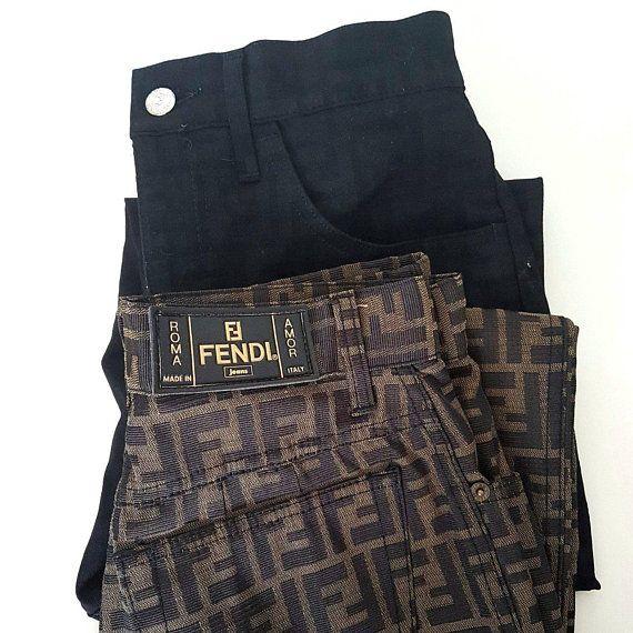 f31e9bd99c9b Vintage  Fendi zucca print  pants fendi  monogram jeans fendi  blogger  gram