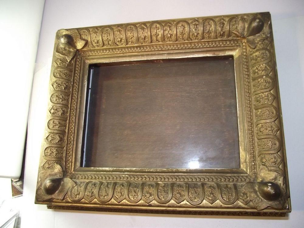 Antique Wooden Victorian Picture Frame Gold Gilt Shadowbox Miniature ...