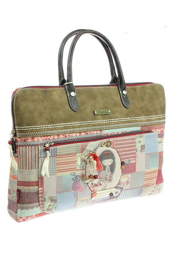 785348f009 Τσάντα laptop - χαρτοφύλακας κόκκινη Anekke - Patchwork 22766.1 ...