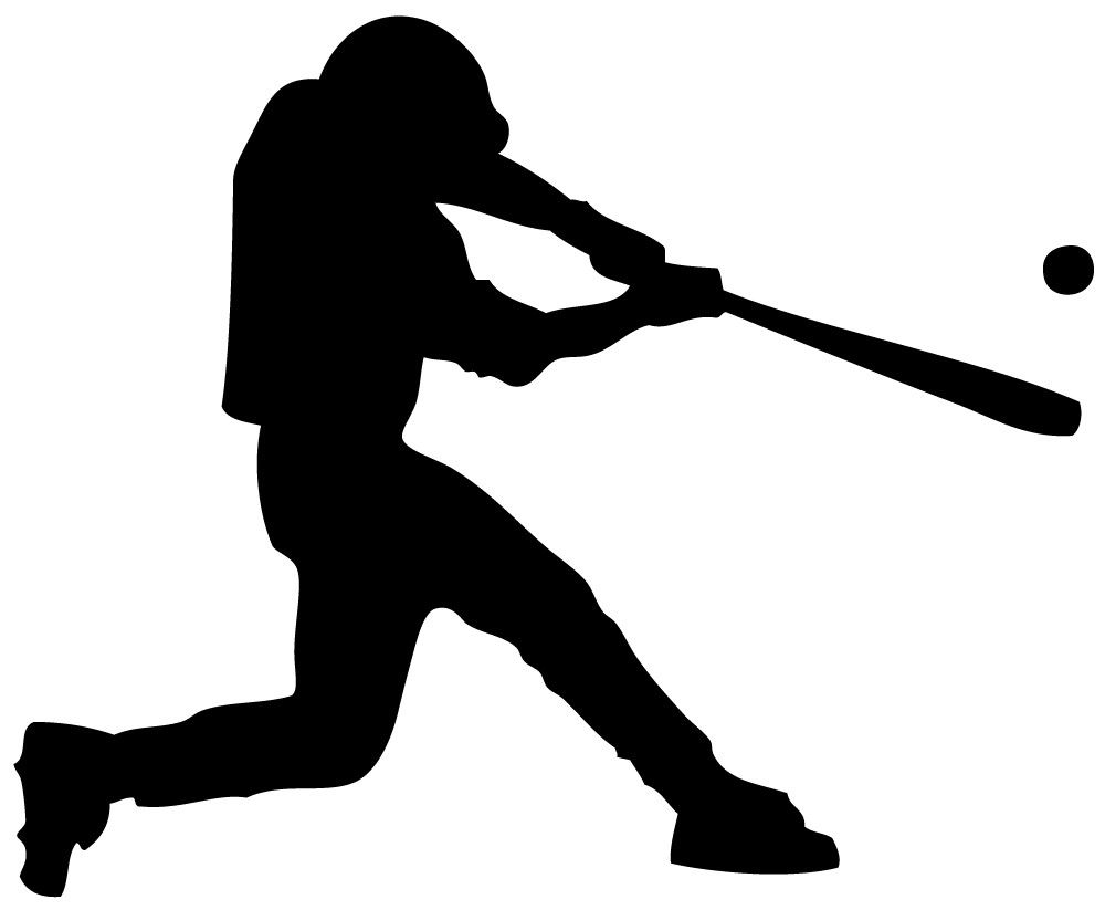 swinging baseball player clip art cricut and scrapbook rh pinterest com basketball player clipart black and white baseball player clipart images free