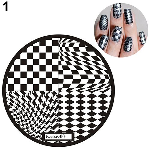 13 Designs Nail Art Pattern Stamp Template Image Stamping Plates - stamp template