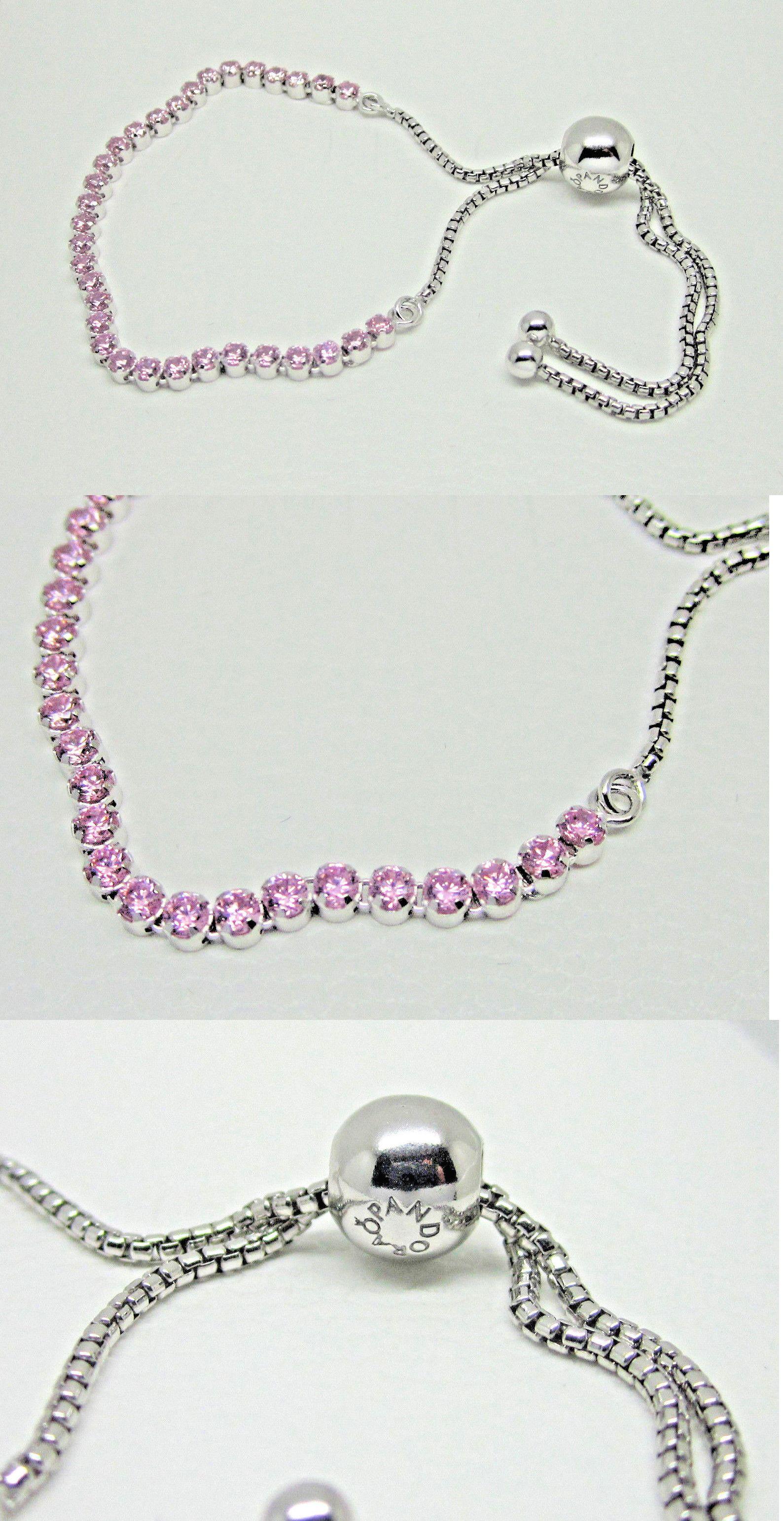 Pandora bracelet dillards - Charms And Charm Bracelets 140944 Authentic Pandora 590524pcz 2 Sparkling Strand Adjustable Pink