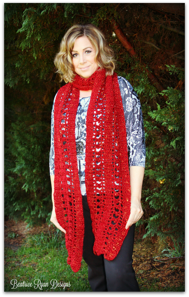Free crochet pattern: September Jewel Super Scarf by Beatrice Ryan ...