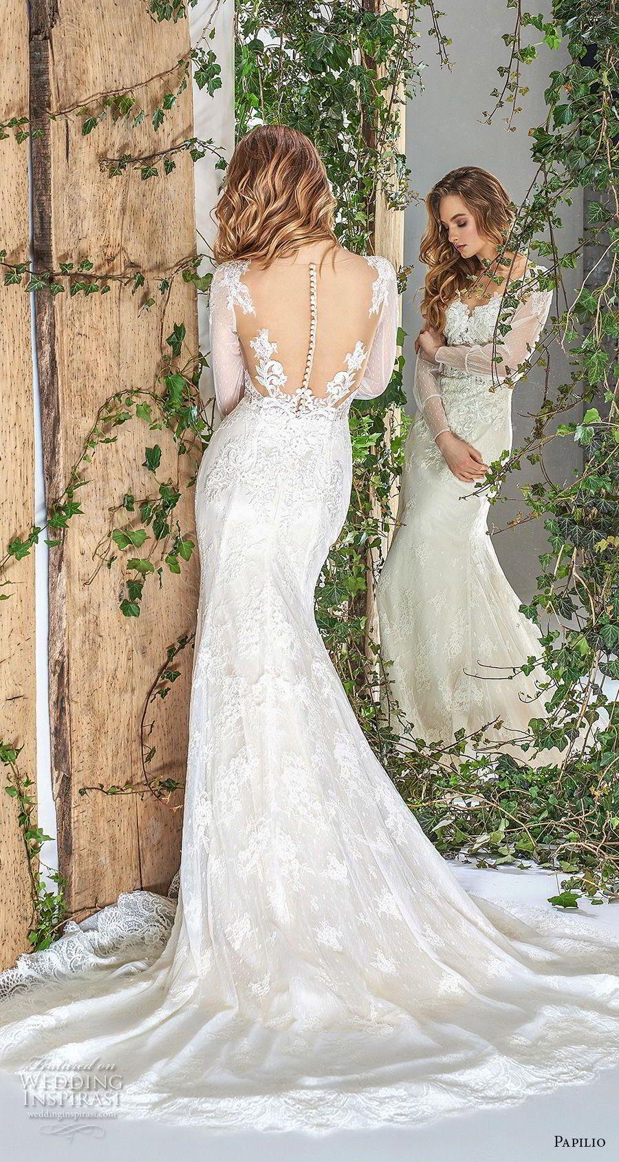Sheer long sleeve wedding dresses  Papilio  Wedding Dresses u ucWonderlandud Bridal Collection
