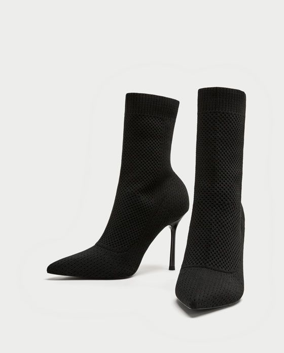 90ff49591ef Image 7 of STRETCH FABRIC HIGH HEEL ANKLE BOOTS from Zara