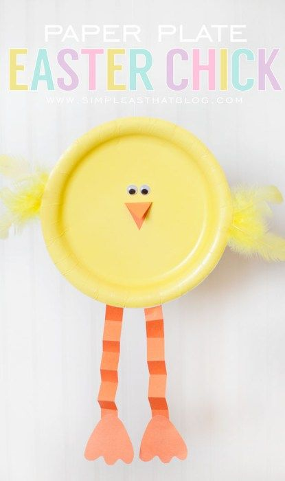 Paper Plate Chick Easter Simple and Fun Craft for Children