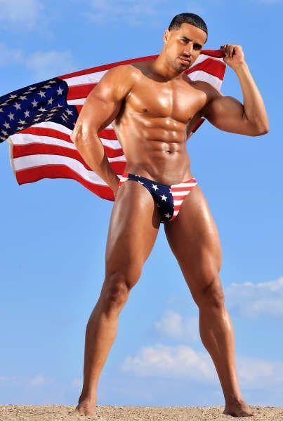 American Flag Speedo Guy : american, speedo, Patriotic, Beefcake