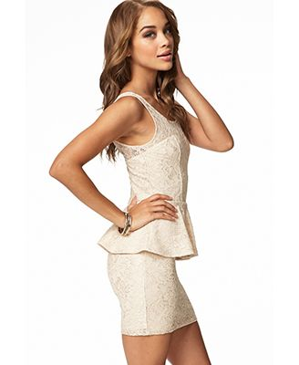 Forever 21 lace peplum dress