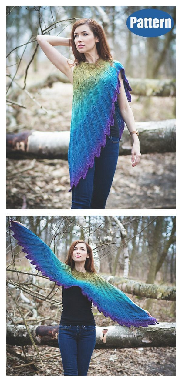 Wingspan Shawl Knitting Pattern #knitting