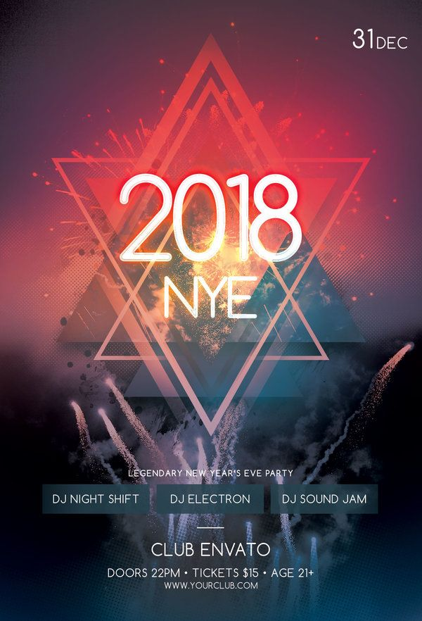 Flyer Samples Templates New Year Flyer Templatestylewishdownload The Psd Design For $9 .