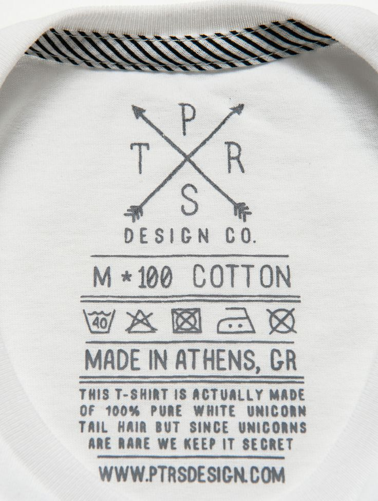 Ptrsdesign co clothing tagsprinted