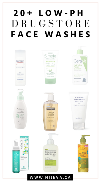 Drugstore Affordable List Of Low Ph Balanced Cleansers Face Wash Facial Drugstore Face Wash Drugstore Facial Cleanser Facial Wash Cleanser