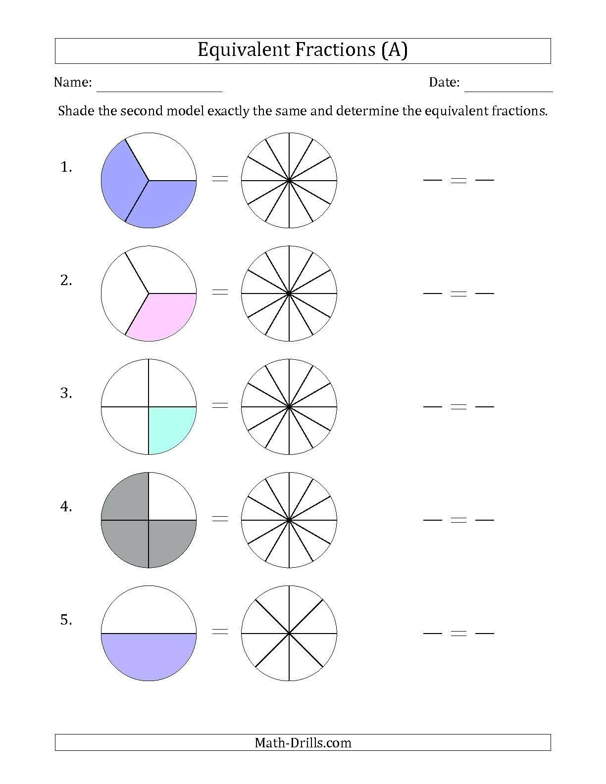 Comparing Fractions Third Grade Worksheet Worksheet Ideas