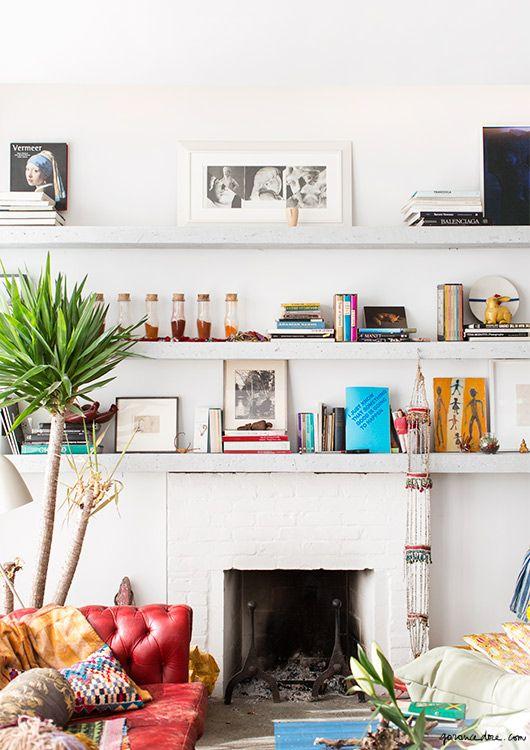 Apartment Red Hook Brooklyn Fireplace Mirabelle Marden Garance Doré