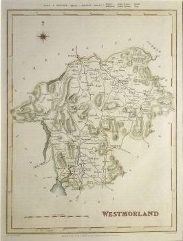 Antique Maps UK England Westmorland Map By Creighton Walker - Vintage maps uk