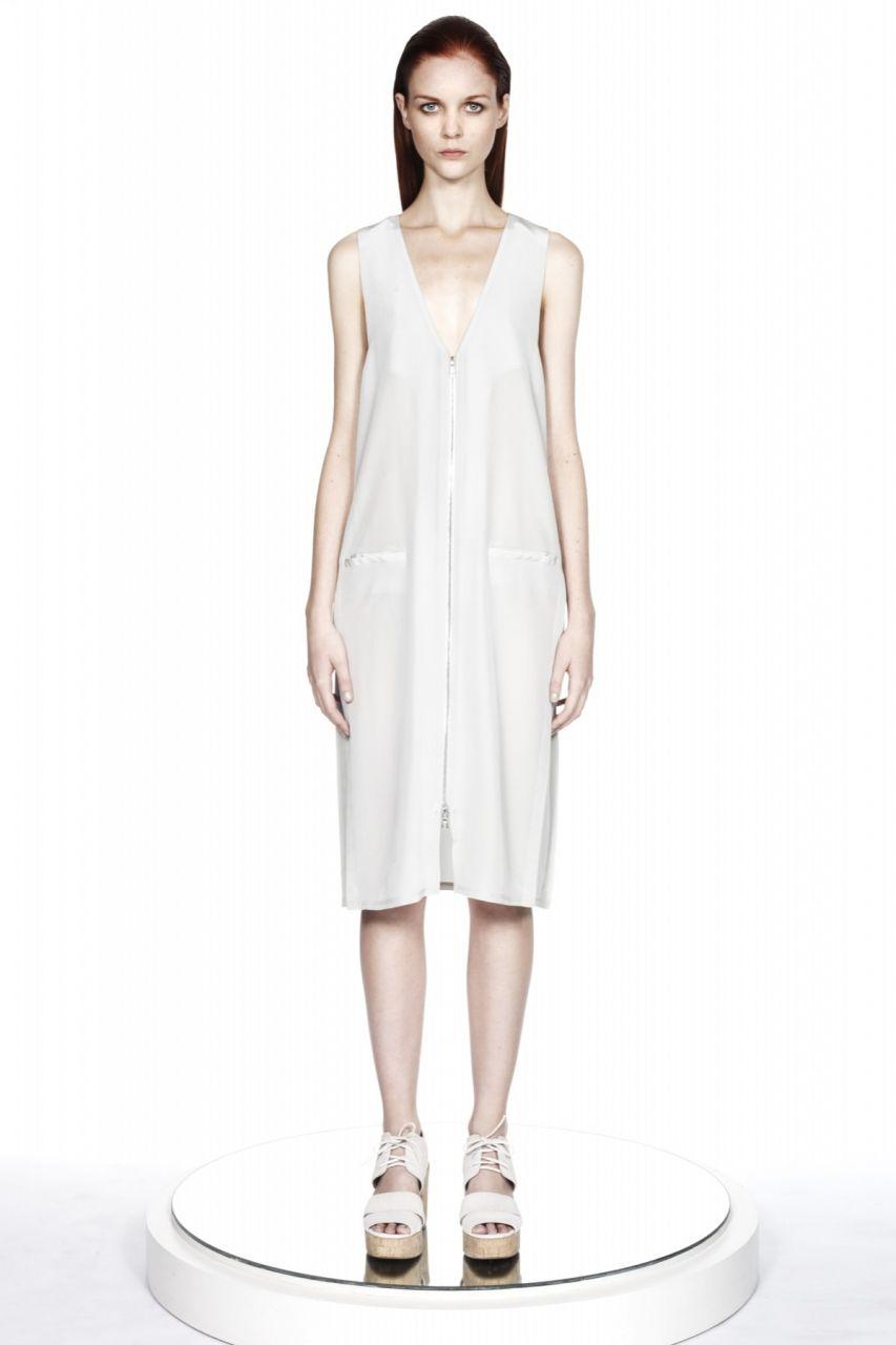 ERIN BARR : Alexandra Side Placket Silk Dress