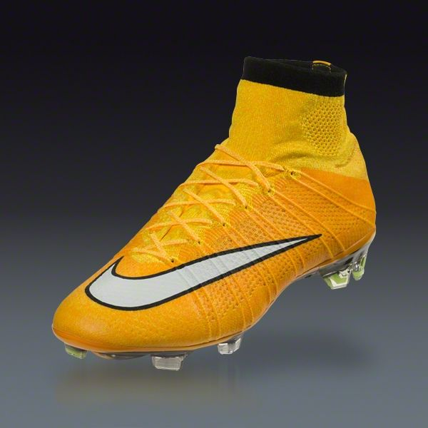 nike mercurial superfly fg soccer cleats shoes laser orange white black