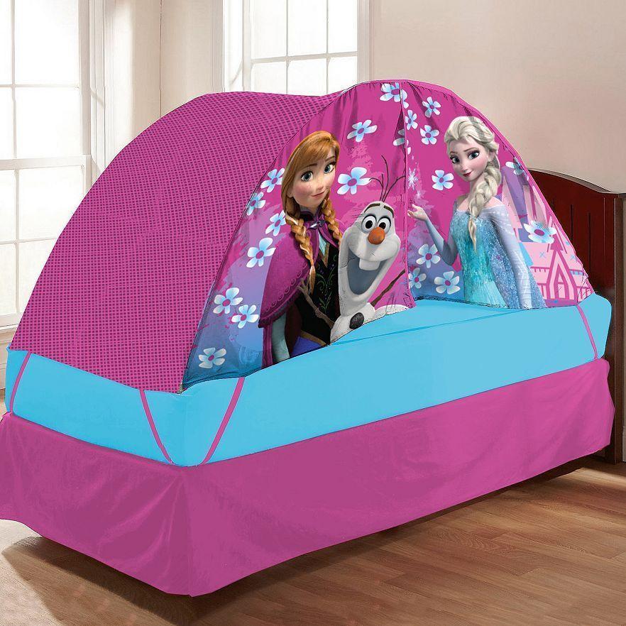 "disney ""frozen"" anna, olaf & elsa bed tent w/ push light for"